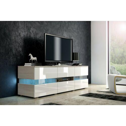 INTER Tv szekrény sonoma fényes fehér