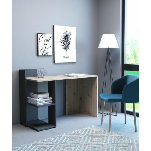 PACO íróasztal artisan tölgy-antracit