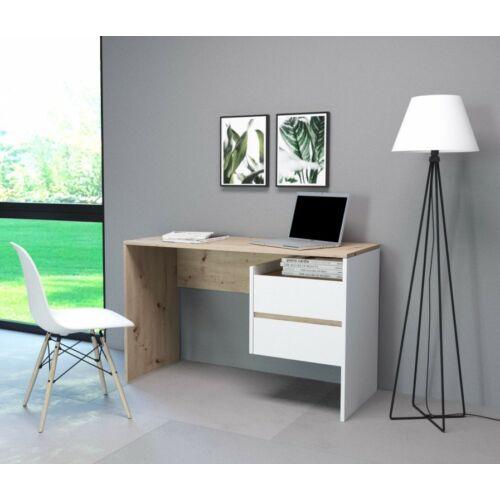 PACO 03 íróasztal fehér-artisan tölgy