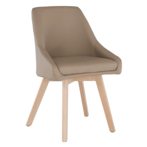 Étkező szék, bézs/bükkfa, TEZA