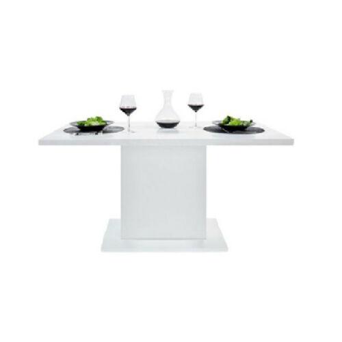 Lavina 2 étkezőasztal, magasfényű fehér