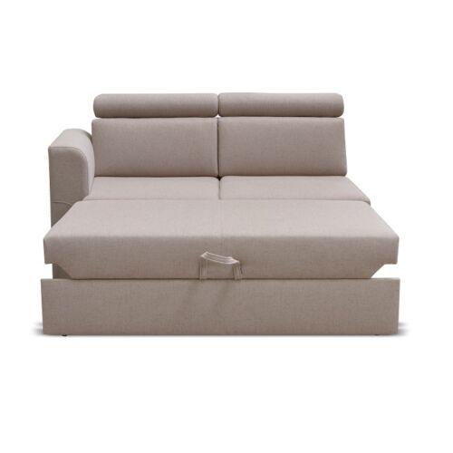 Ottomán 2 1B ZF rendelésre a luxus ülőgarnitúrához bézs balos MARIETA