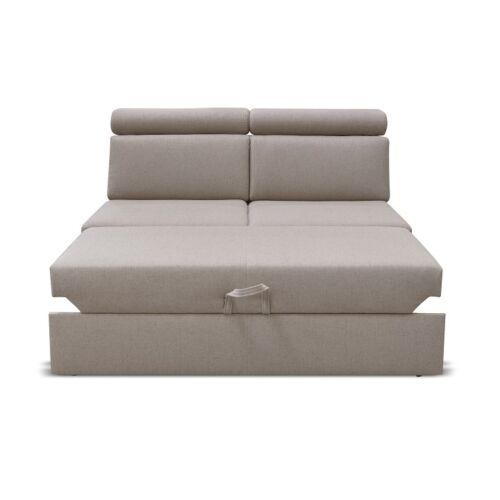 Kétszemélyes kanapé 2 BB ZF rendelésre a luxus ülőgarnitúrához bézs MARIETA