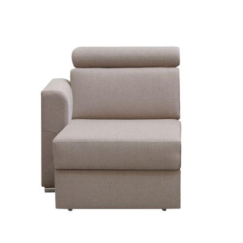 Ottomán OTT 1B ZP rendelésre a luxus ülőgarnitúrához bézs balos MARIETA