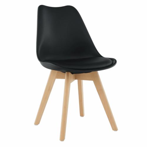 Modern szék bükk és  fekete BALI NEW