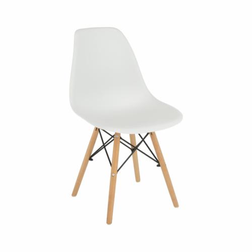 Modern szék bükk és  fehér CINKLA 3 NEW