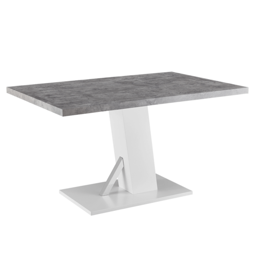 Étkezőasztal beton fehér extra magas fényű HG 138 BOLAST
