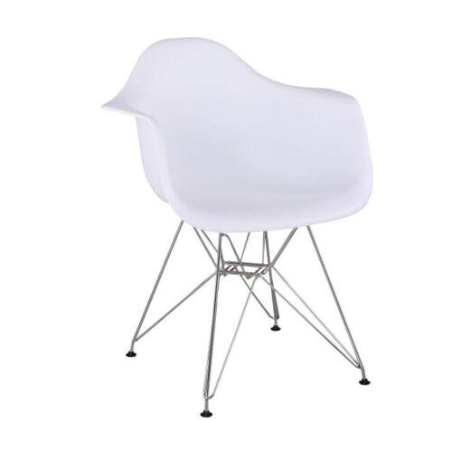 FEMAN 3 NEW szék kivitel : króm lábak  ülőrész fehér műanyag