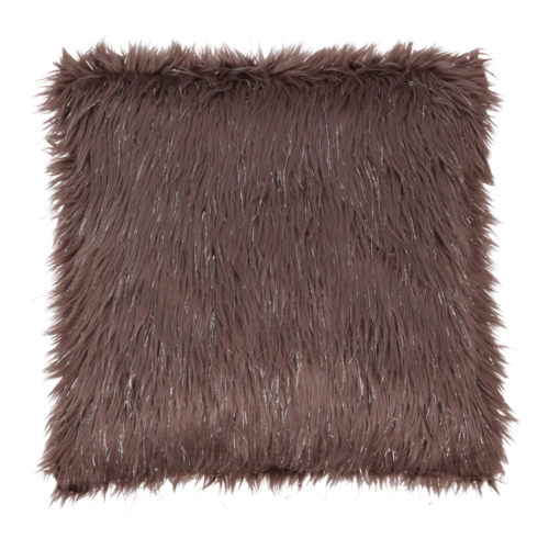 Párna szürke-barna-taupe ezüst 45x45 FOXA TYP 4