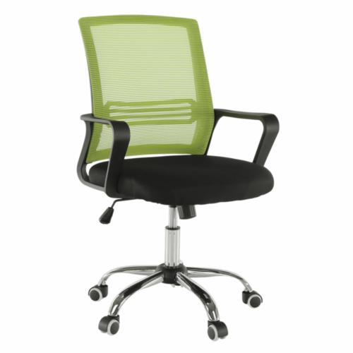 Irodai szék hálószövet zöld szövet fekete APOLO