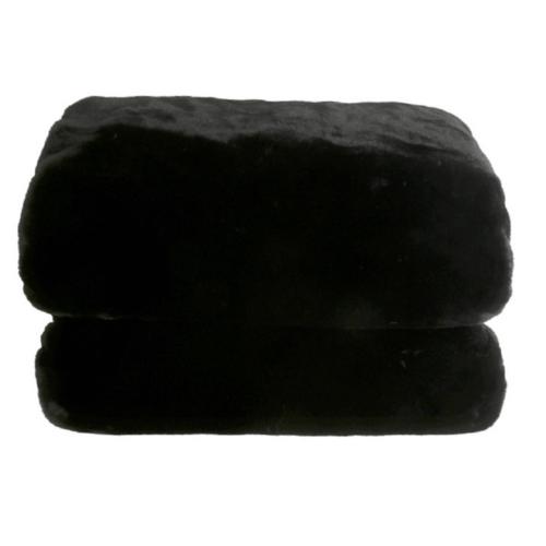 Szőrmés pléd fekete 150x170 RABITA TYP 1