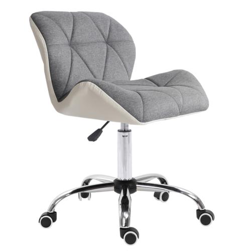 Irodai szék fehér szürke króm BADAR