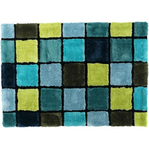 LUDVIG Szőnyeg 140x200 többszínű: világoskék   sötétkék   zöld   türkiz