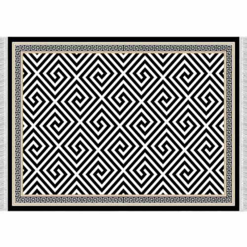 Szőnyeg fekete-fehér minta 160x230 MOTIVE
