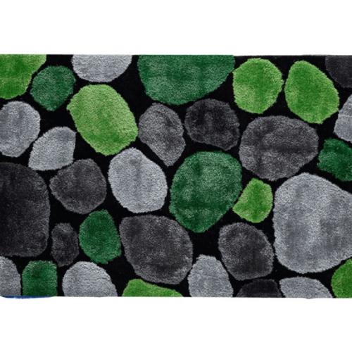Szőnyeg zöld szürke fekete 140x200 PEBBLE TYP 1