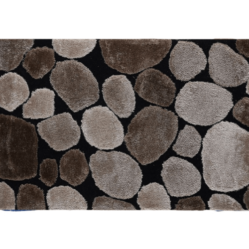 Szőnyeg barna fekete 170x240 PEBBLE TYP 2