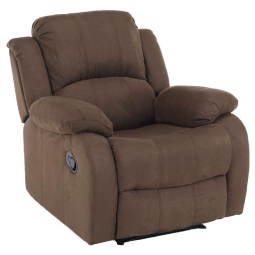 Állítható relaxáló fotel barna szövet ASKOY