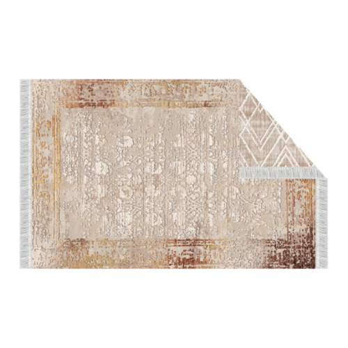 Szőnyeg, bézs/minta, 120x180, NESRIN