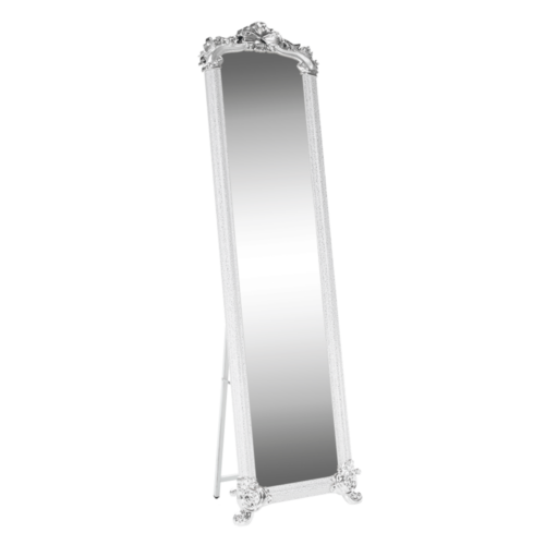 Álló tükör, fehér/ezüst, ODINE