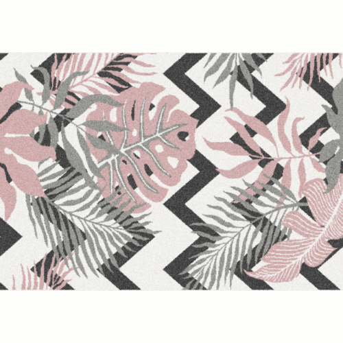 Szőnyeg, sokszínű, leveles minta, 67x120, SELIM
