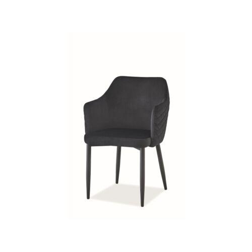 ASTOR VELVET szék fekete BLUVEL19