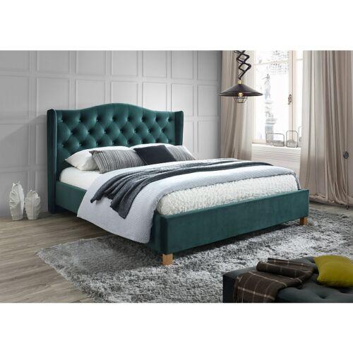 ASPEN VELVET ágy 160x200 zöld BLUVEL 78
