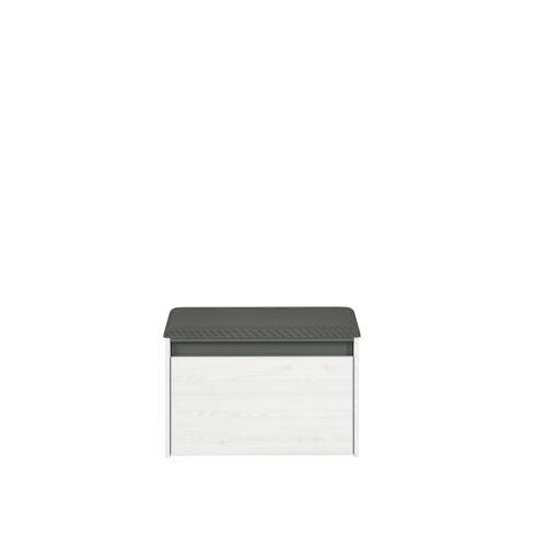 HYGA 02 cipősszekrény fehér fenyő/antracyt