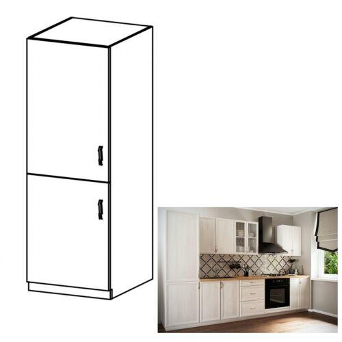 Hűtő beépítő konyhaszekrény D60ZL balos fehér sosna Andersen SICILIA