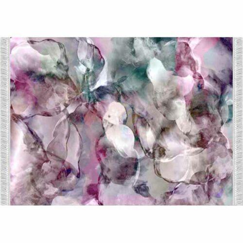 Szőnyeg rózsaszín zöld bézs minta 120x180 DELILA