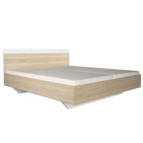 Ágy 180x200 sonoma tölgyfa fehér GABRIELA