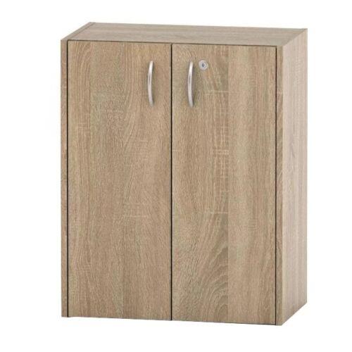 Alacsony szekrény lakattal tölgy sonoma TEMPO ASISTENT NEW 011