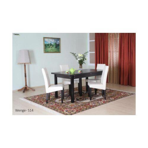 Monica asztal étkezőasztal 160-as bővíthető calvados színben