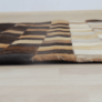 Kép 6/8 - Luxus bőrszőnyeg, fehér/barna /fekete, patchwork, 120x180, bőr TIP 7