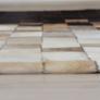 Kép 5/8 - Luxus bőrszőnyeg, fehér/barna /fekete, patchwork, 120x180, bőr TIP 7