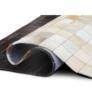 Kép 4/8 - Luxus bőrszőnyeg, fehér/barna /fekete, patchwork, 120x180, bőr TIP 7