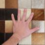 Kép 3/8 - Luxus bőrszőnyeg, fehér/barna /fekete, patchwork, 120x180, bőr TIP 7