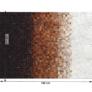 Kép 2/8 - Luxus bőrszőnyeg, fehér/barna /fekete, patchwork, 120x180, bőr TIP 7