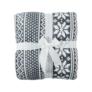 Kép 9/14 - Kétoldalas bárány takaró, téli motívum, 150x200, MALENA