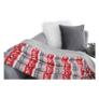 Kép 12/17 - Kétoldalas bárány takaró, téli motívum, 150x200, RENIFE