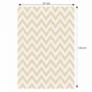 Kép 2/3 - Szőnyeg, bézs-fehér minta, 67x120, ADISA TYP 2
