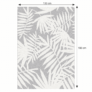 Kép 2/3 - Szőnyeg, leveles minta, 133x190,  INTISAR