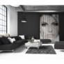 Kép 4/9 - Luxus bőrszőnyeg, barna /fekete/fehér, patchwork, 141x200, bőr TIP 6