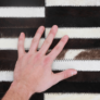 Kép 5/9 - Luxus bőrszőnyeg, barna /fekete/fehér, patchwork, 141x200, bőr TIP 6