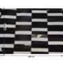 Kép 9/9 - Luxus bőrszőnyeg, barna /fekete/fehér, patchwork, 141x200, bőr TIP 6