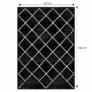 Kép 2/3 - Szőnyeg, fekete/minta, 133x190  cm, MATES TYP 1