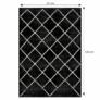 Kép 2/3 - Szőnyeg, fekete/minta, 67x120 cm, MATES TYP 1
