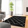 Kép 3/3 - Szőnyeg, fekete/minta, 133x190  cm, MATES TYP 1