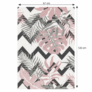 Kép 4/4 - Szőnyeg, sokszínű, leveles minta, 67x120, SELIM