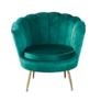 Kép 1/4 - Art-deco desing fotel  smaragd bársony szövet arany króm- arany NOBLIN