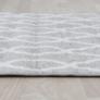 Kép 7/12 - Szőnyeg, világosszürke/minta elefántcsont, 57x90, DESTA